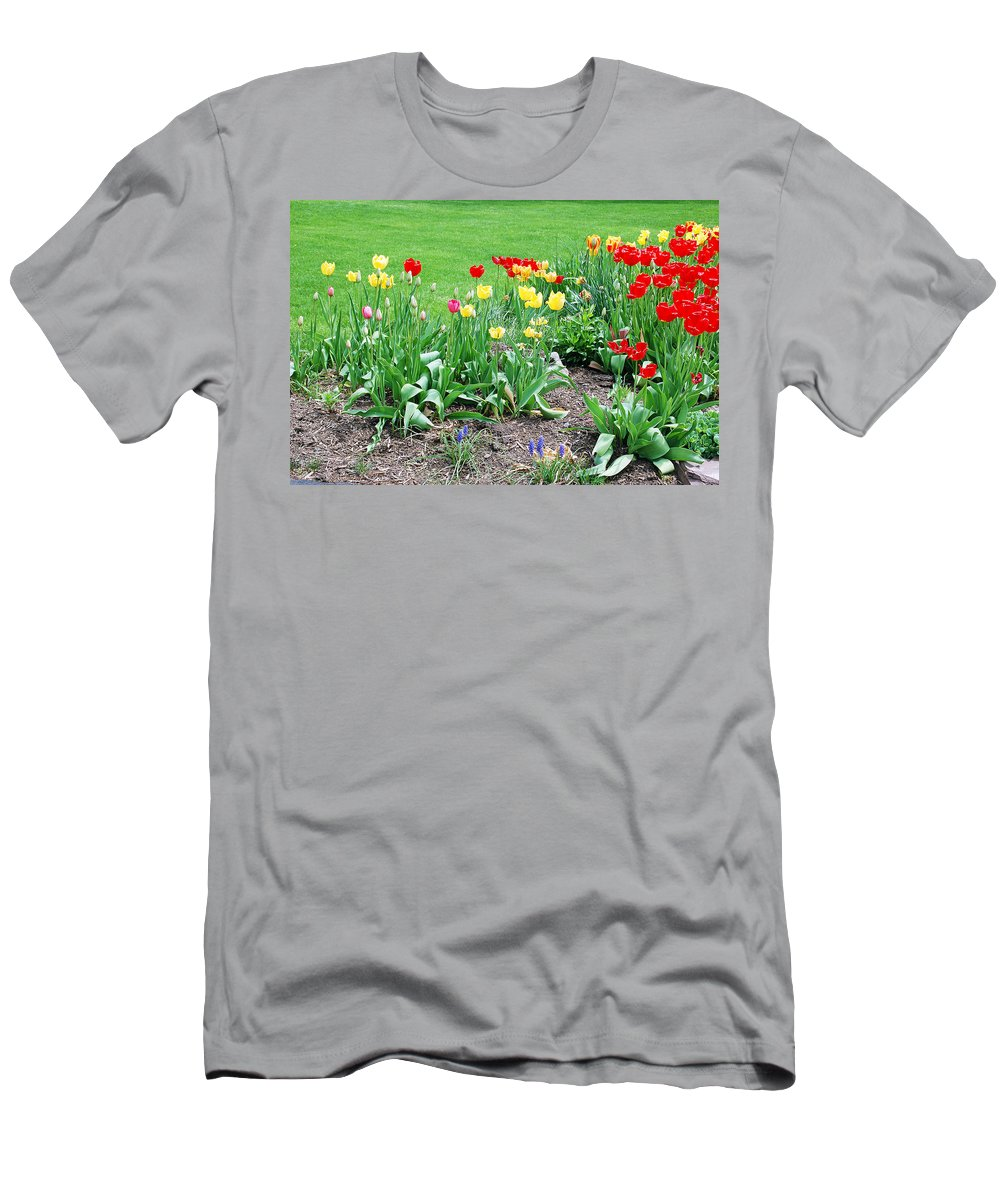 Tulip Men's T-Shirt (Athletic Fit) featuring the photograph Tulips by Aimee L Maher ALM GALLERY