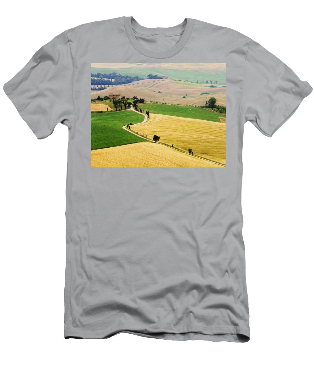 Tuscany Men's T-Shirt (Athletic Fit) featuring the photograph Tuscany Summer by Mircea Costina Photography