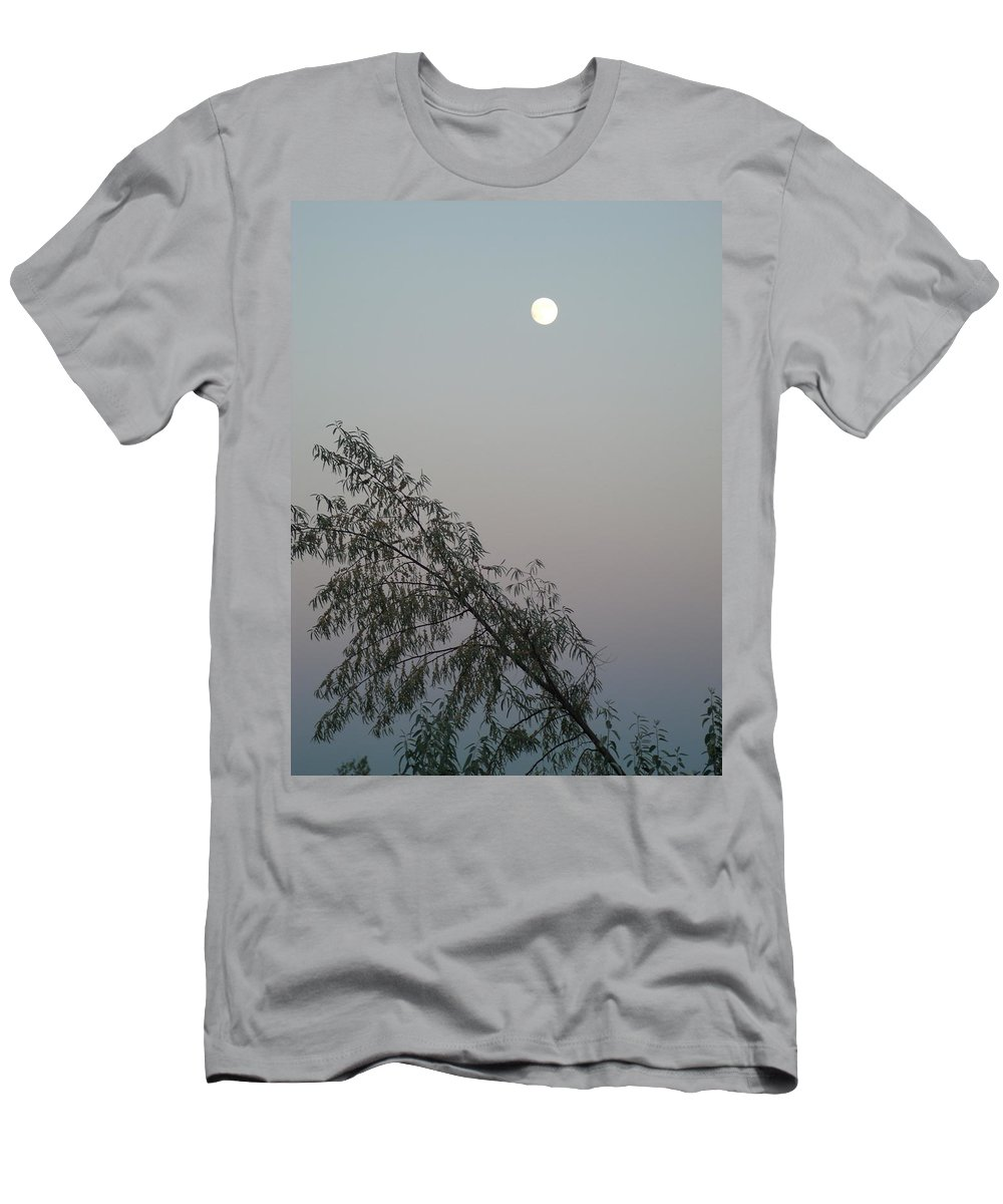Moon Men's T-Shirt (Athletic Fit) featuring the photograph Twilight by Jessica Myscofski