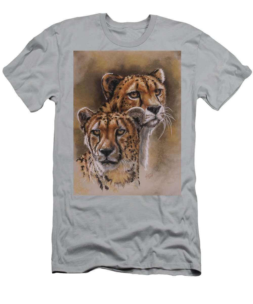Cheetah Men's T-Shirt (Athletic Fit) featuring the pastel Twins by Barbara Keith