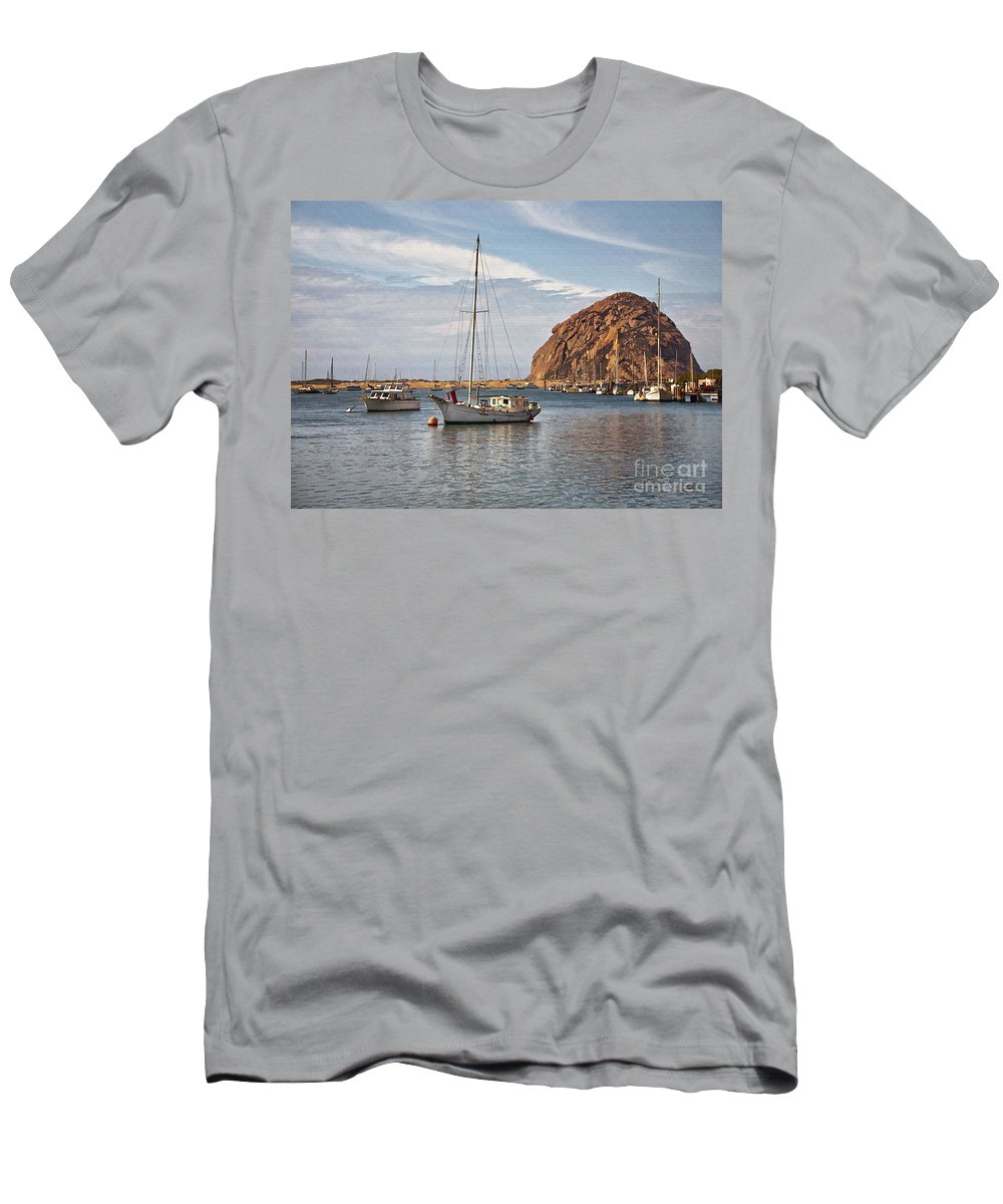 Boat Men's T-Shirt (Athletic Fit) featuring the digital art Two Boats by Sharon Foster