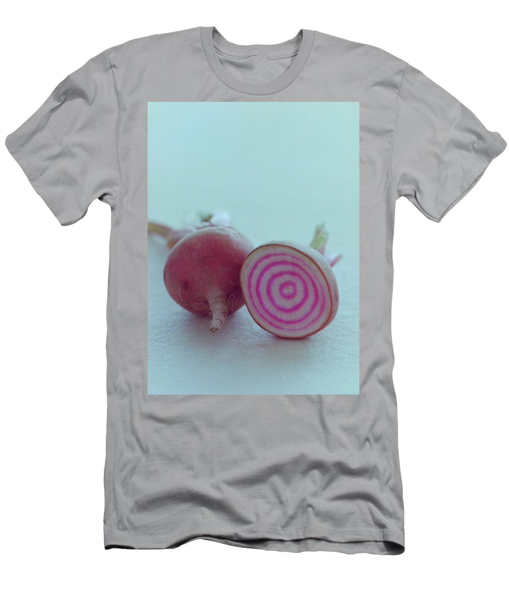 Beet T-Shirt featuring the photograph Two Chioggia Beets by Romulo Yanes