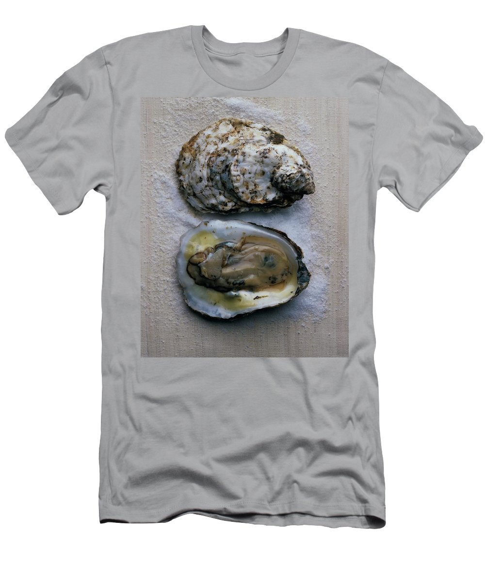 Cooking T-Shirt featuring the photograph Two Oysters by Romulo Yanes