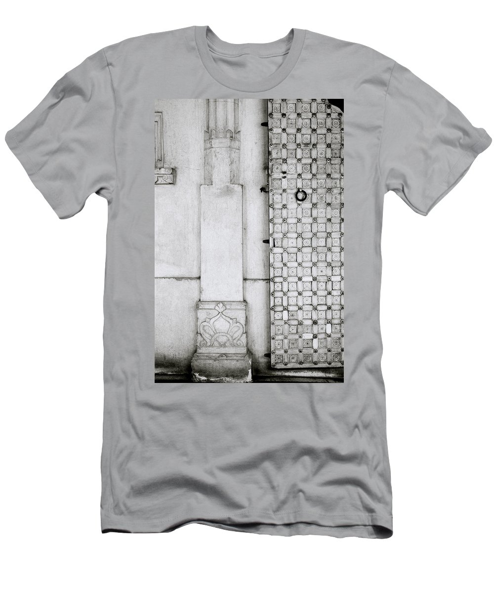 Udaipur Men's T-Shirt (Athletic Fit) featuring the photograph Udaipur City Palace Door by Shaun Higson