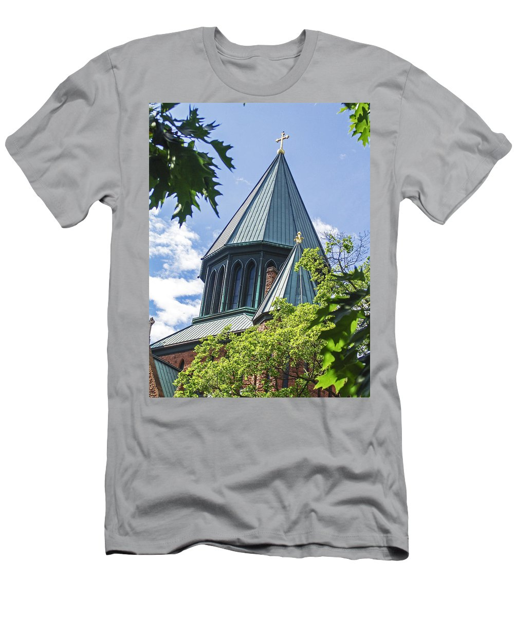 Church Men's T-Shirt (Athletic Fit) featuring the photograph Union Collage Church by Eric Swan