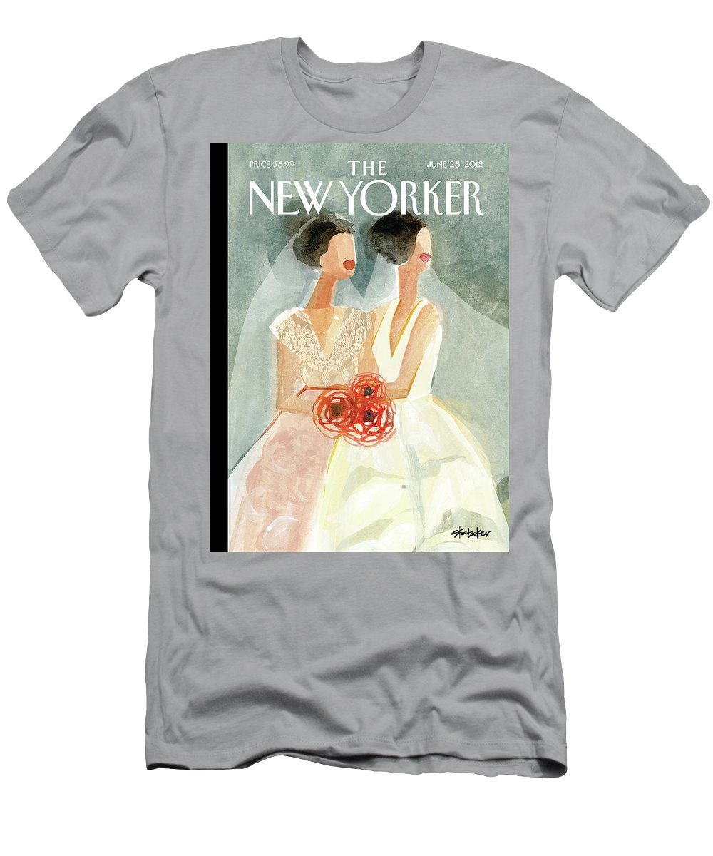 June Brides T-Shirt featuring the painting June Brides by Gayle Kabaker