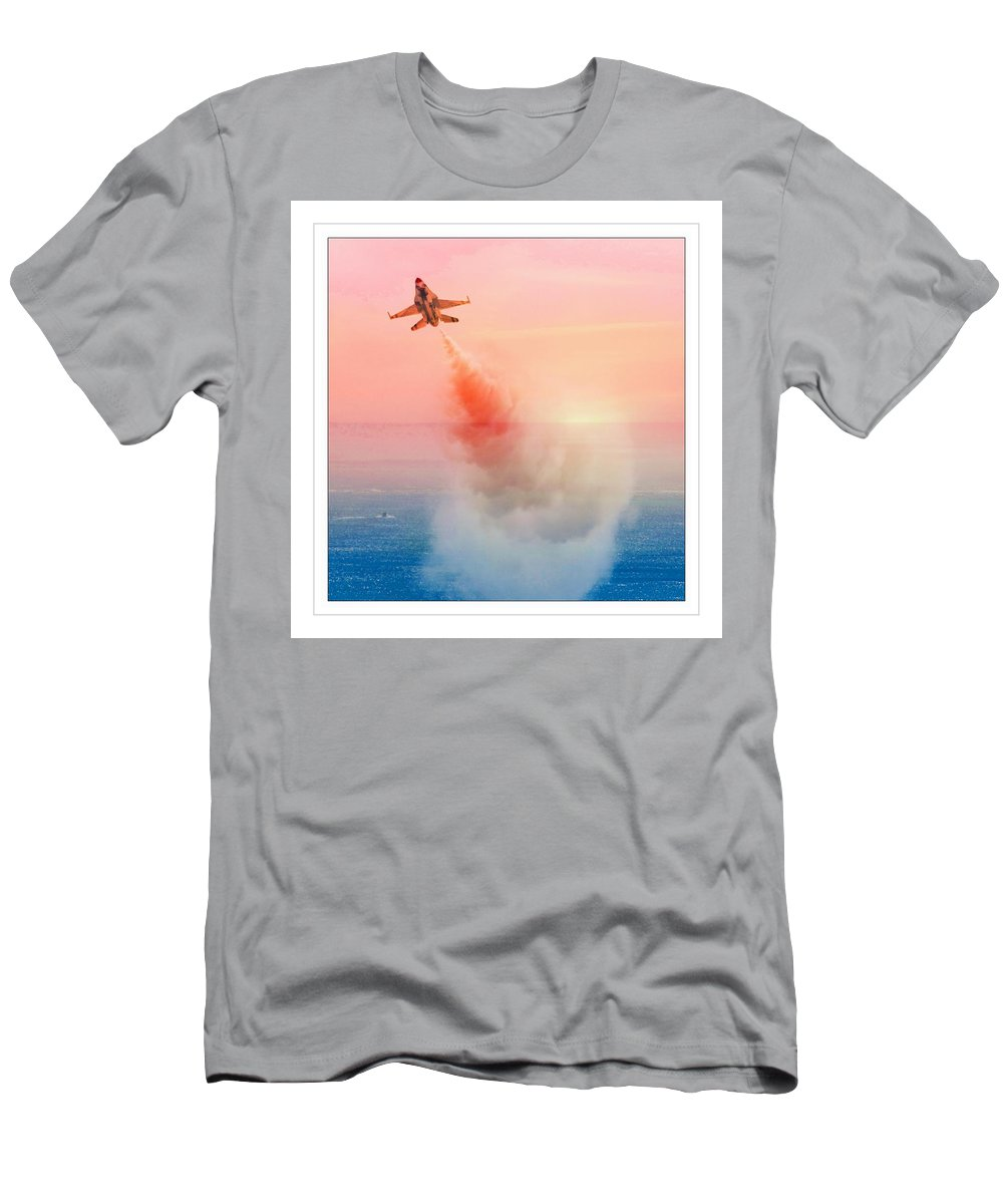 Air Show Views Men's T-Shirt (Athletic Fit) featuring the photograph Up And Away by Alice Gipson