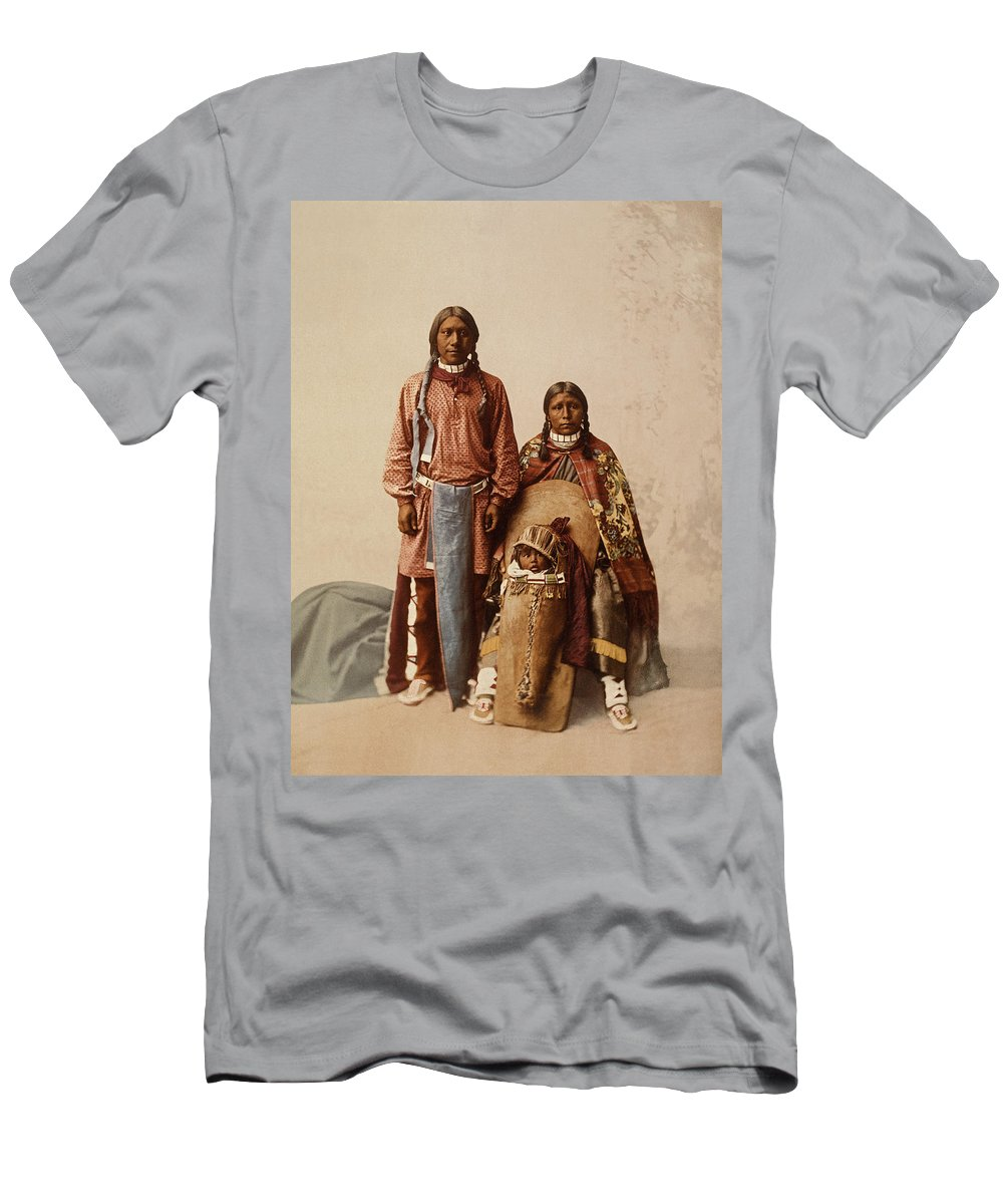 1890's Men's T-Shirt (Athletic Fit) featuring the photograph Ute Jose Romero And Family by William Henry Jackson