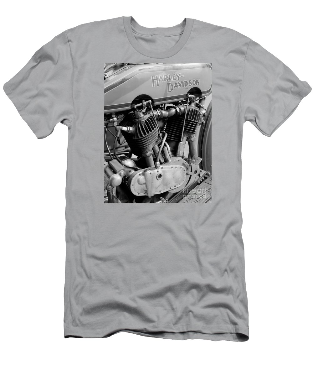 Harley-davidson Men's T-Shirt (Athletic Fit) featuring the photograph V-twin Engine by Riccardo Mottola