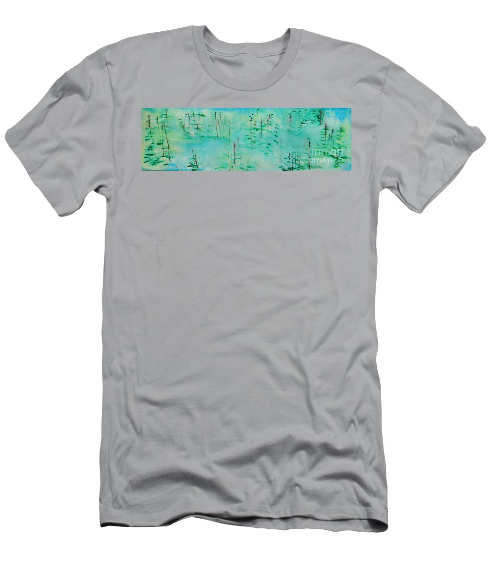 Outdoors Men's T-Shirt (Athletic Fit) featuring the painting Vancouver Island by Paulette B Wright