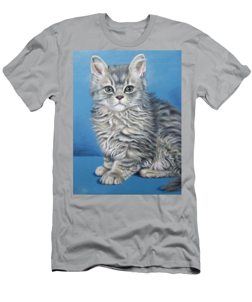 Cat Men's T-Shirt (Athletic Fit) featuring the drawing Velvet Kitten by Nicole Zeug