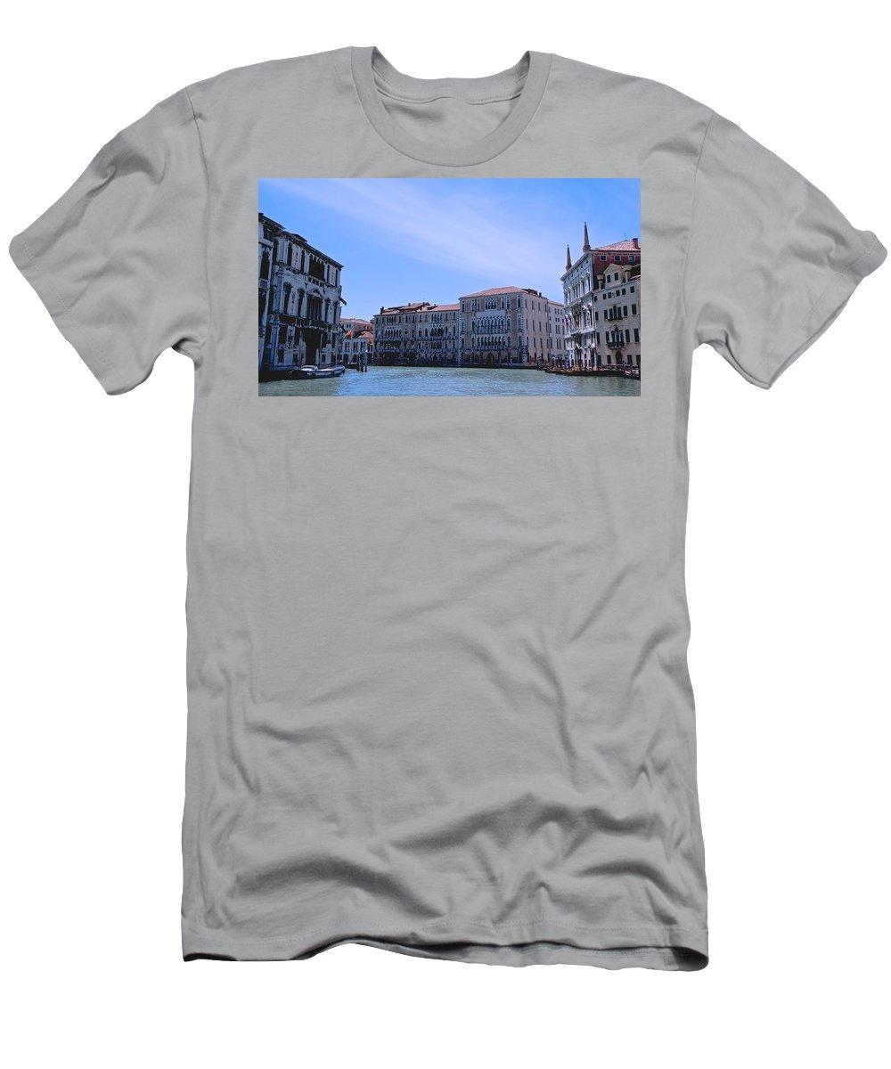 Venice Men's T-Shirt (Athletic Fit) featuring the photograph Venecian Broadway by Eric Tressler
