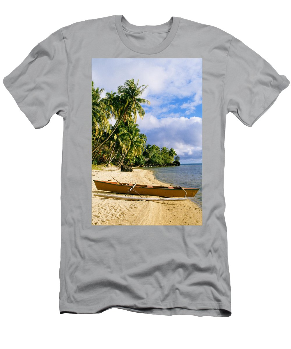 Afternoon Men's T-Shirt (Athletic Fit) featuring the photograph View Of Tahiti by Joe Carini - Printscapes