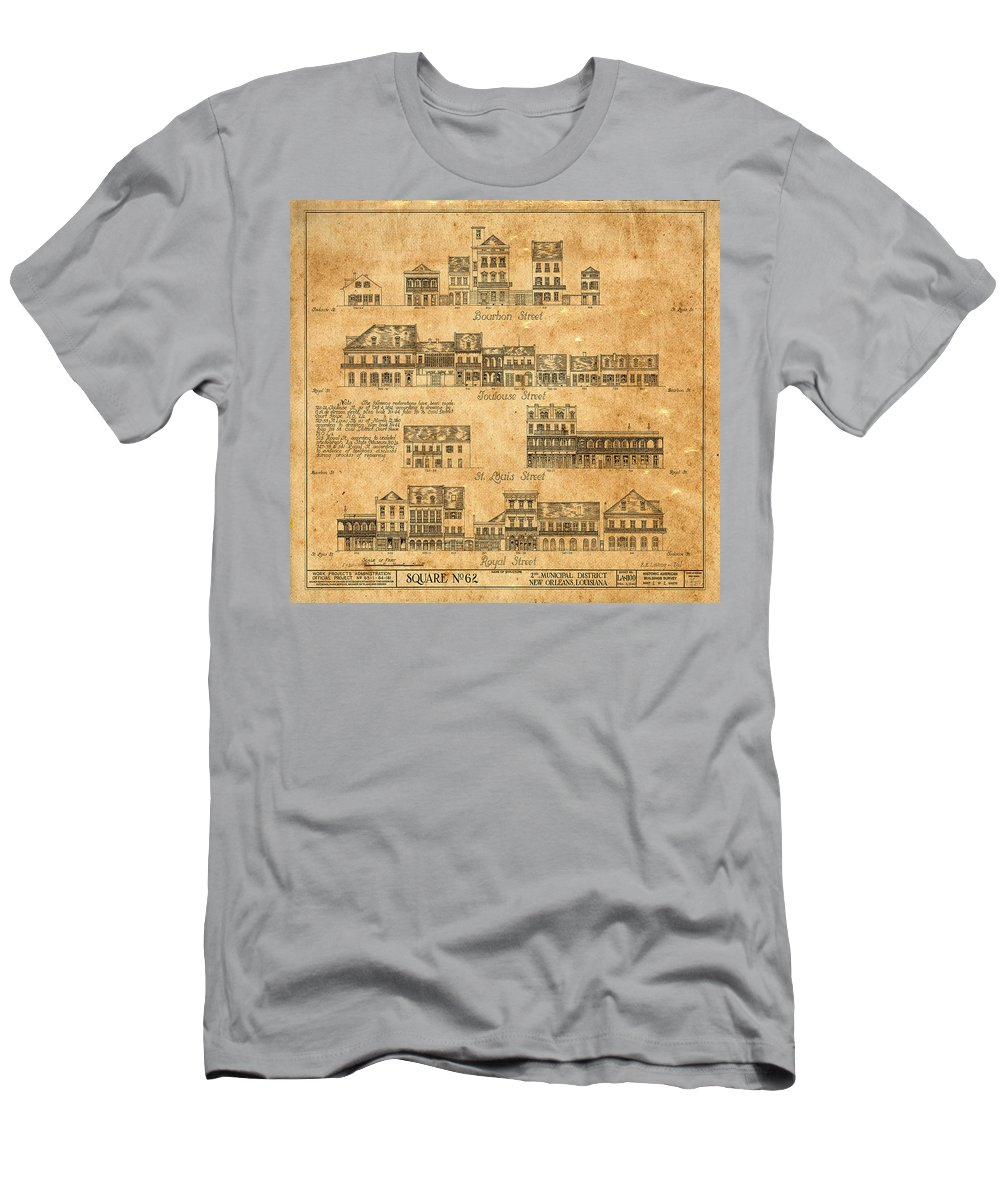 New Orleans Men's T-Shirt (Athletic Fit) featuring the photograph Vintage New Orleans by Andrew Fare