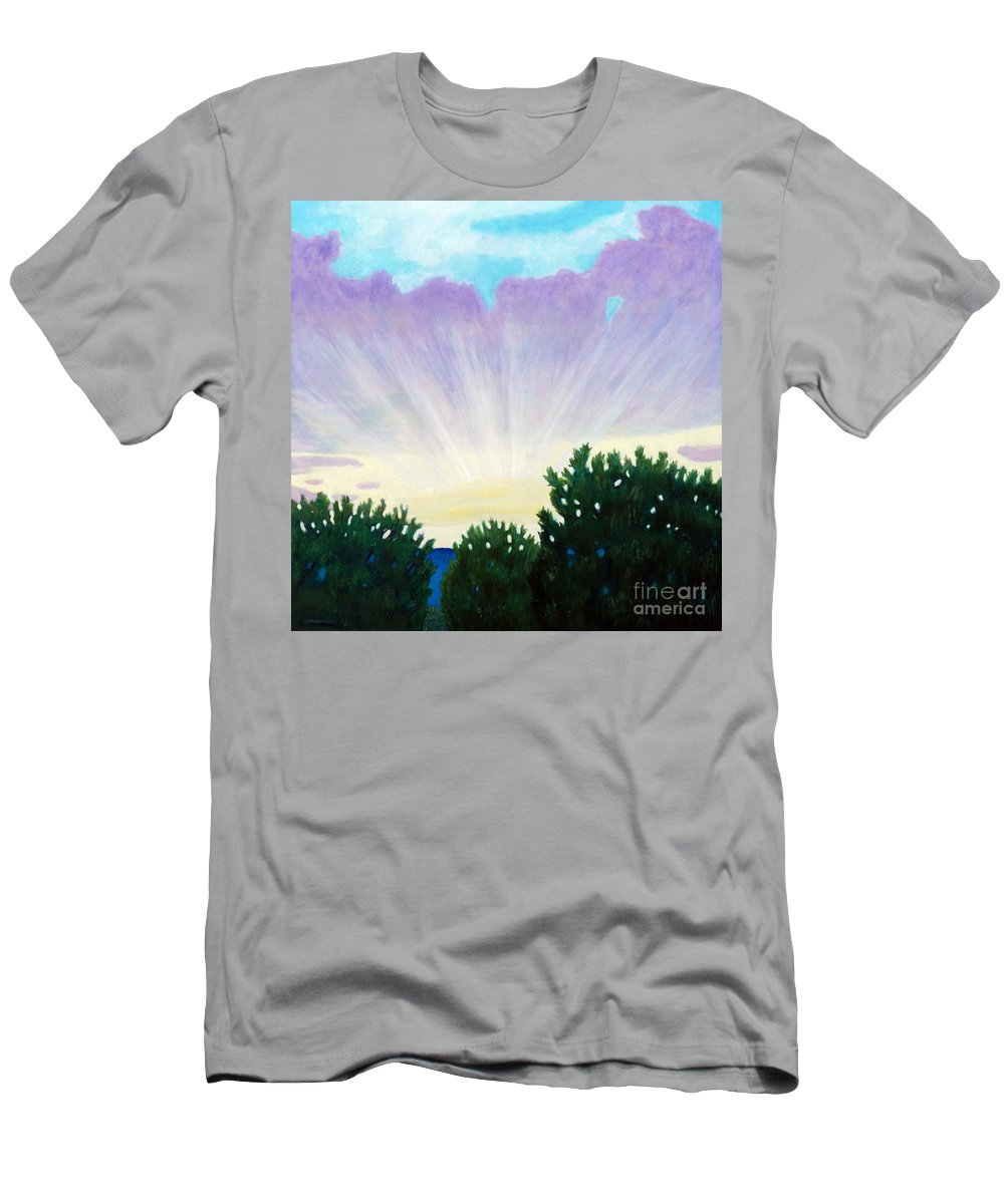 Skyscape Men's T-Shirt (Athletic Fit) featuring the painting Visionary Sky by Brian Commerford