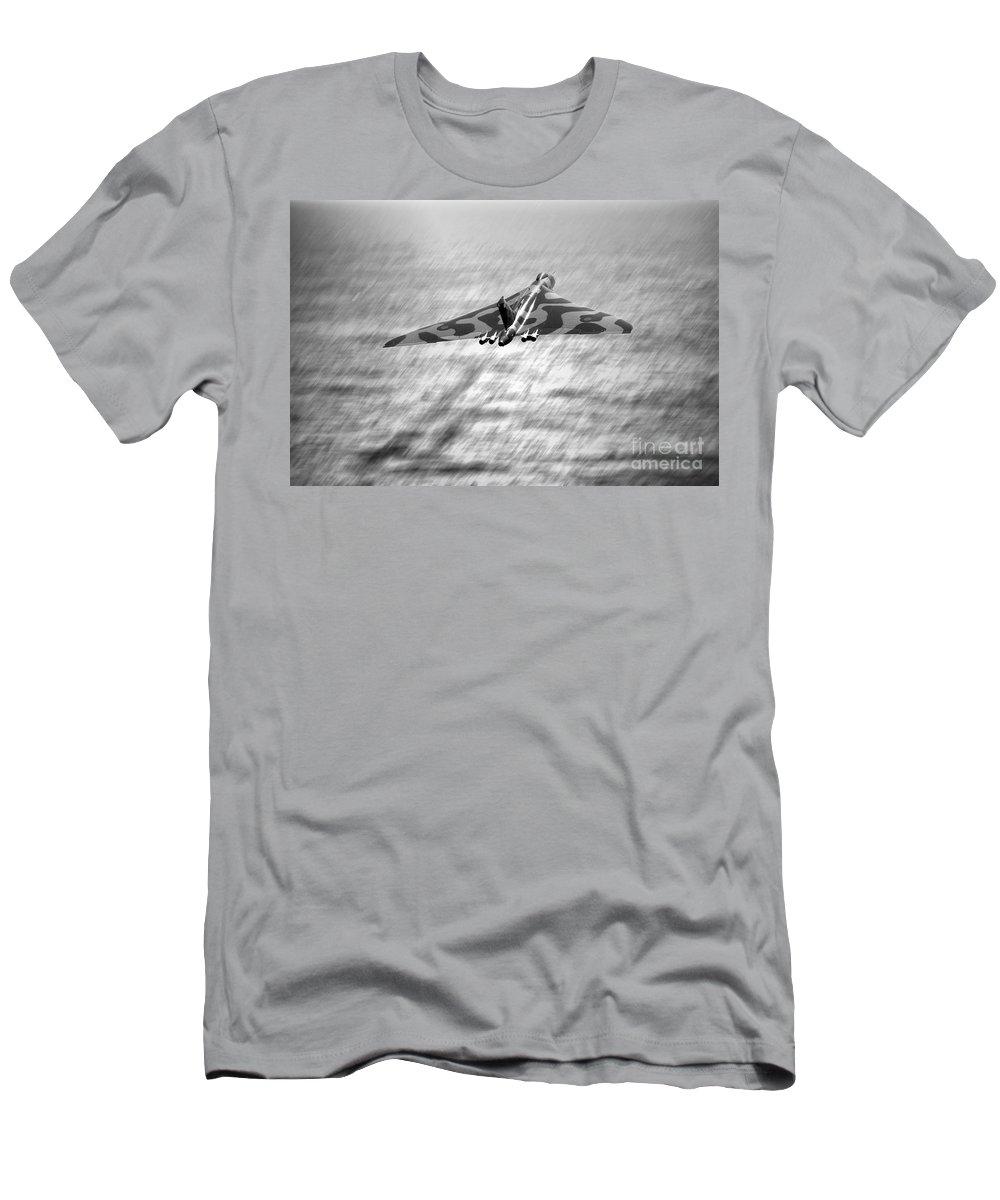 Vulcan Men's T-Shirt (Athletic Fit) featuring the digital art Vulcan Sea by J Biggadike