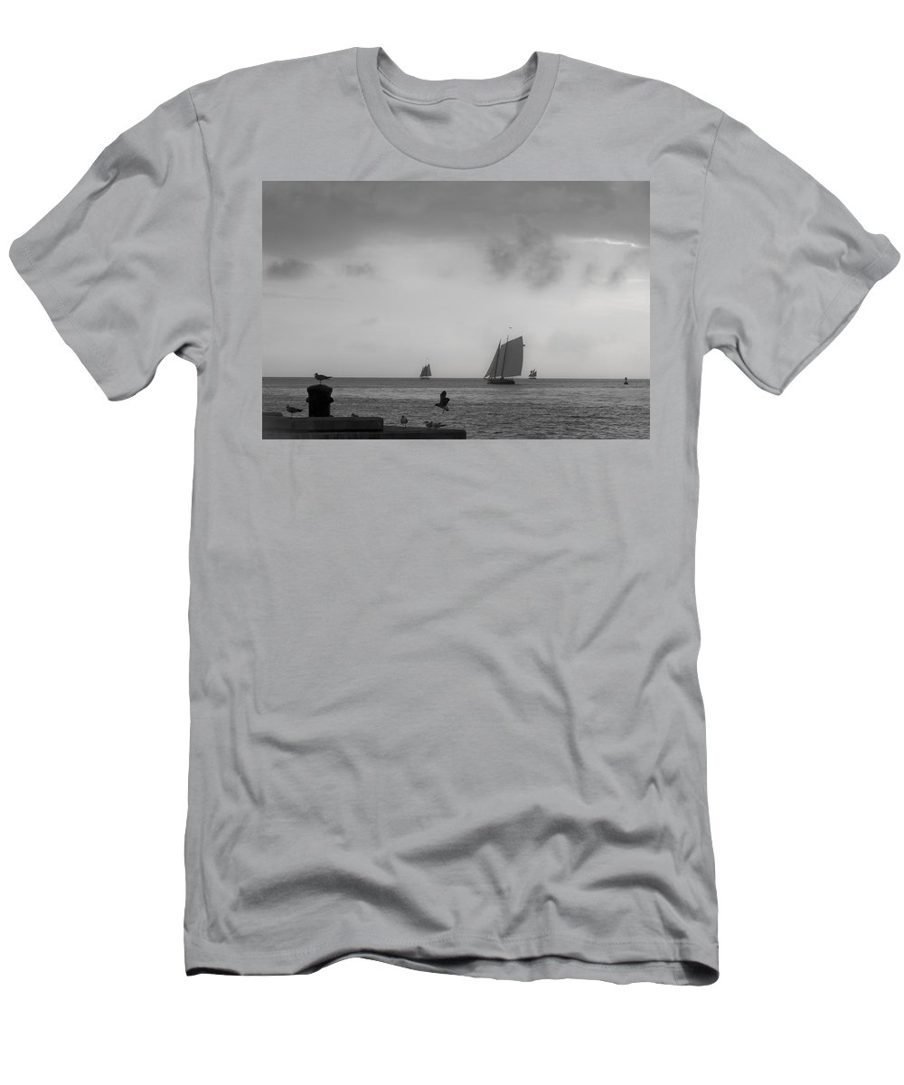 Key Men's T-Shirt (Athletic Fit) featuring the photograph Wait For Me by Scott Meyer