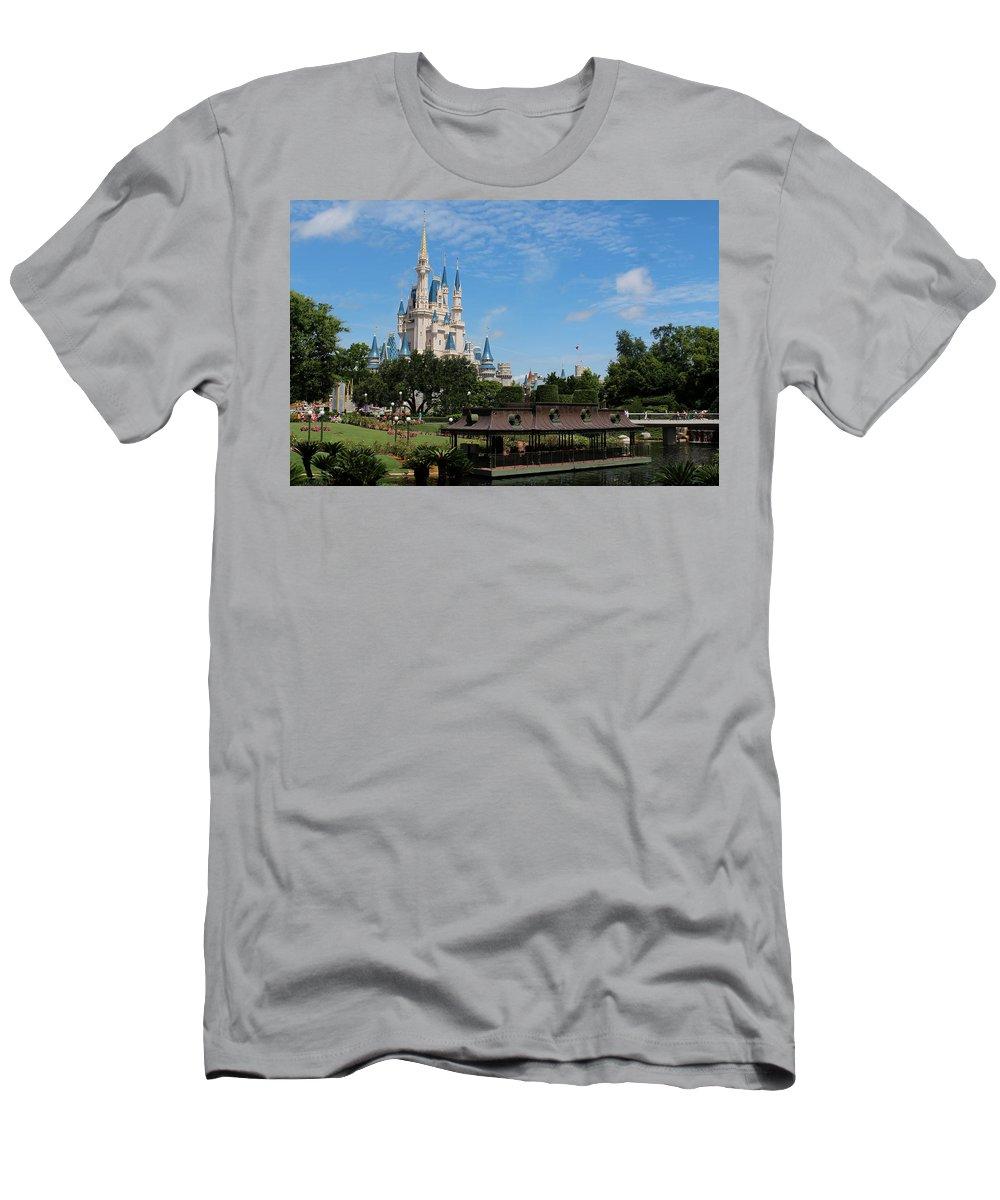 Walt Disney World Men's T-Shirt (Athletic Fit) featuring the photograph Walt Disney World Orlando by Pixabay