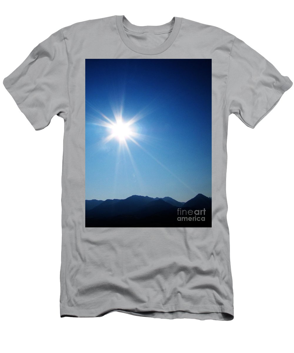 Landscape Men's T-Shirt (Athletic Fit) featuring the photograph Watching Montana by Ron Tackett
