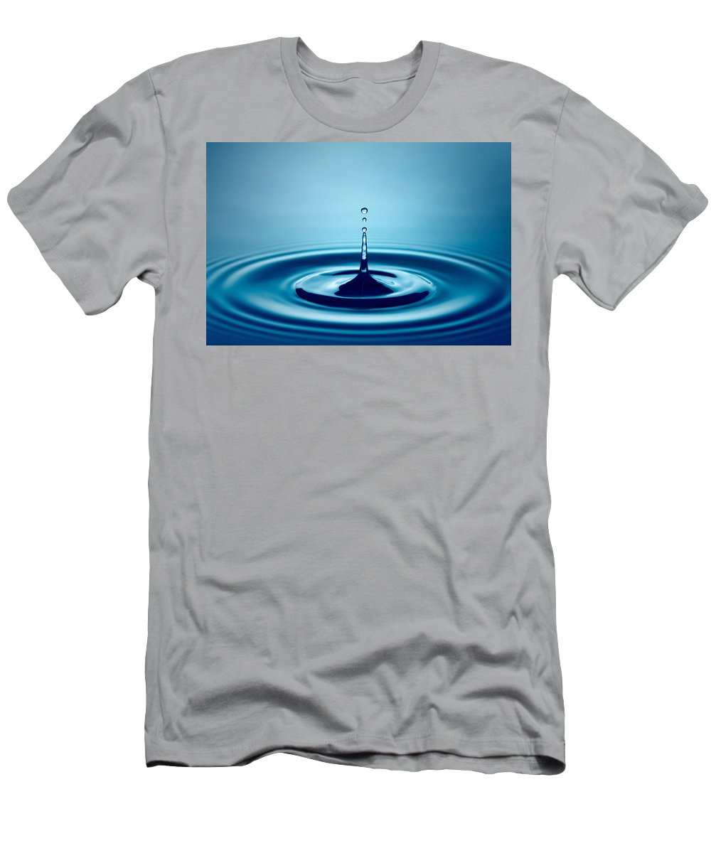 Water Men's T-Shirt (Athletic Fit) featuring the photograph Water Drop Splash by Johan Swanepoel