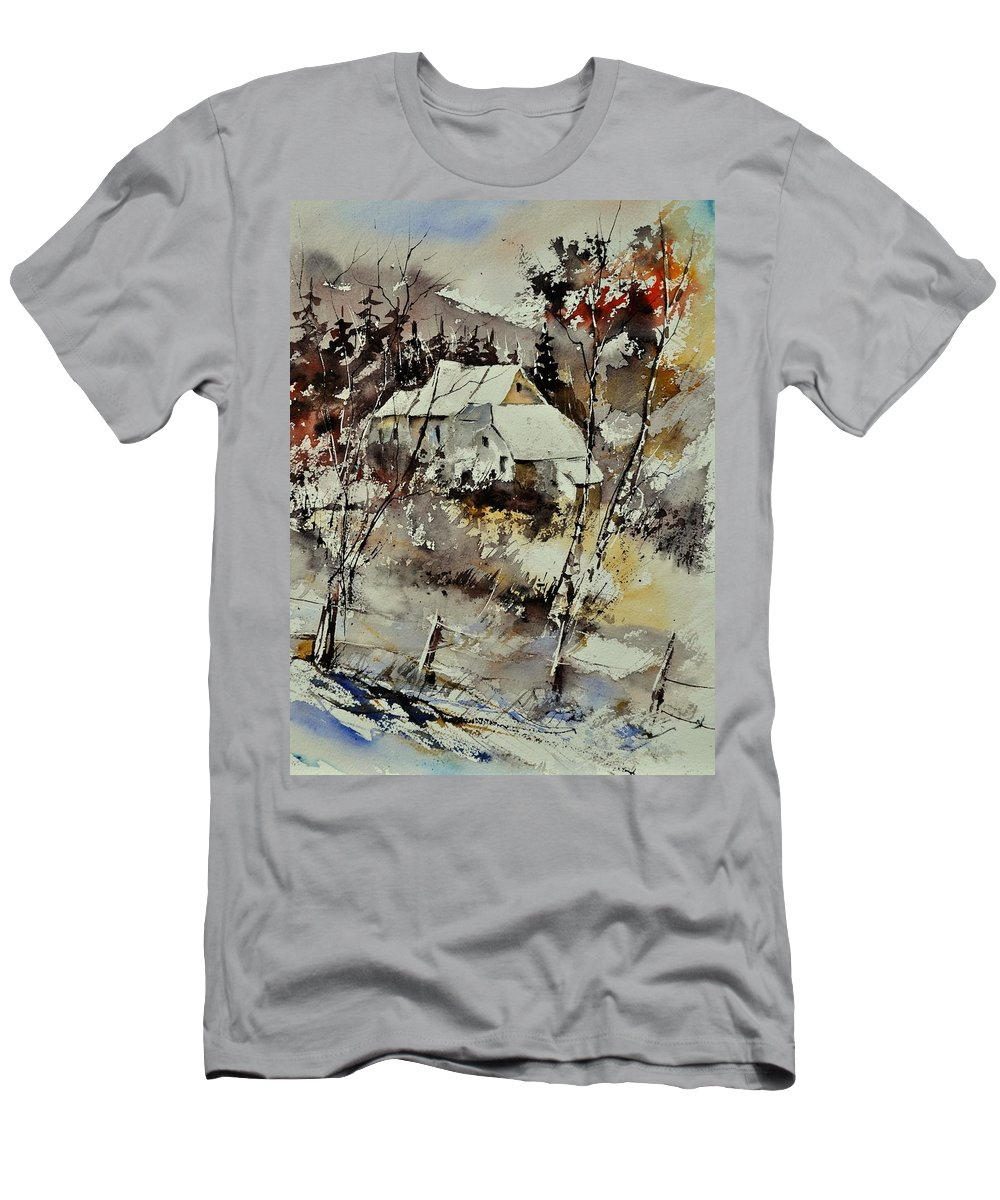 Landscape T-Shirt featuring the painting Watercolor 314001 by Pol Ledent