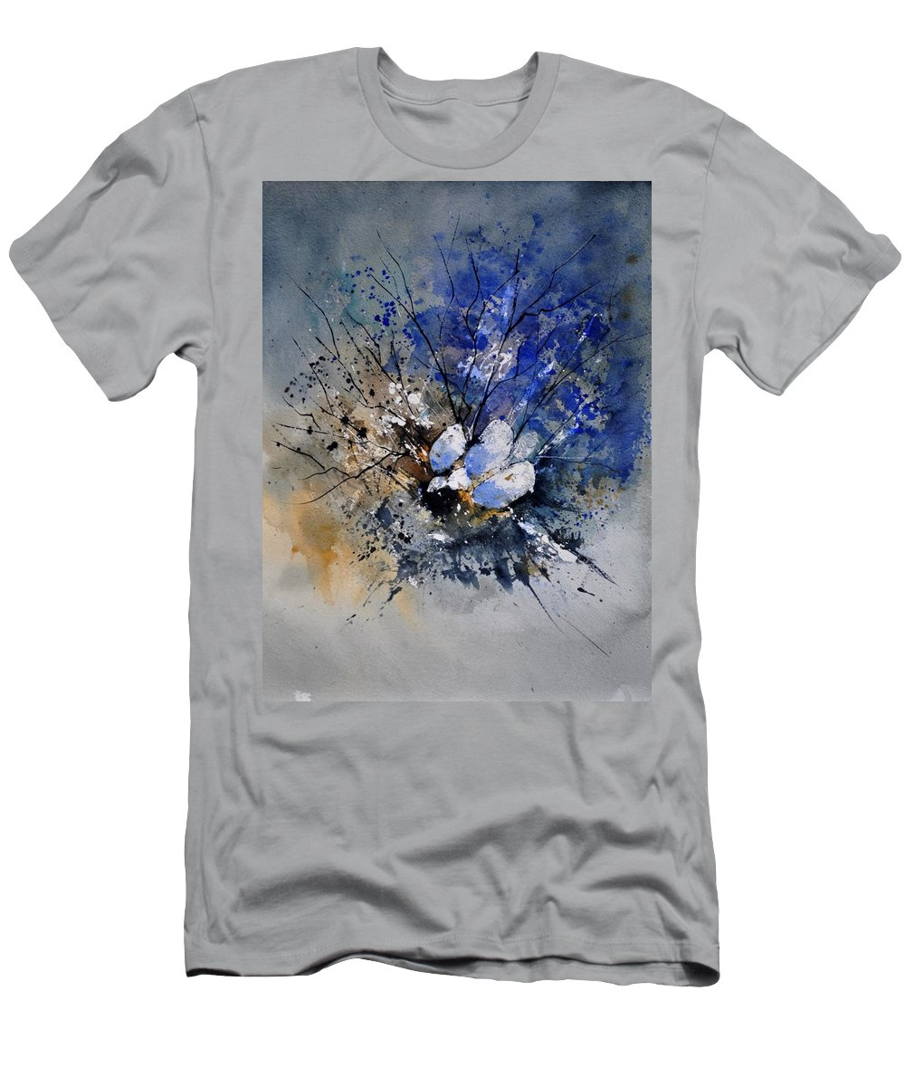 Abstract T-Shirt featuring the painting Watercolor 415081 by Pol Ledent