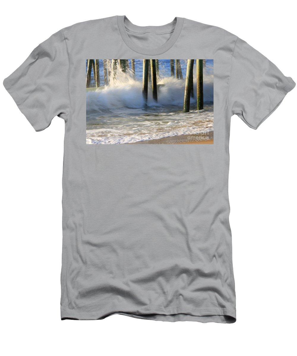 Wave Art Photographs Men's T-Shirt (Athletic Fit) featuring the photograph Wave Art 9 by Michael Mooney