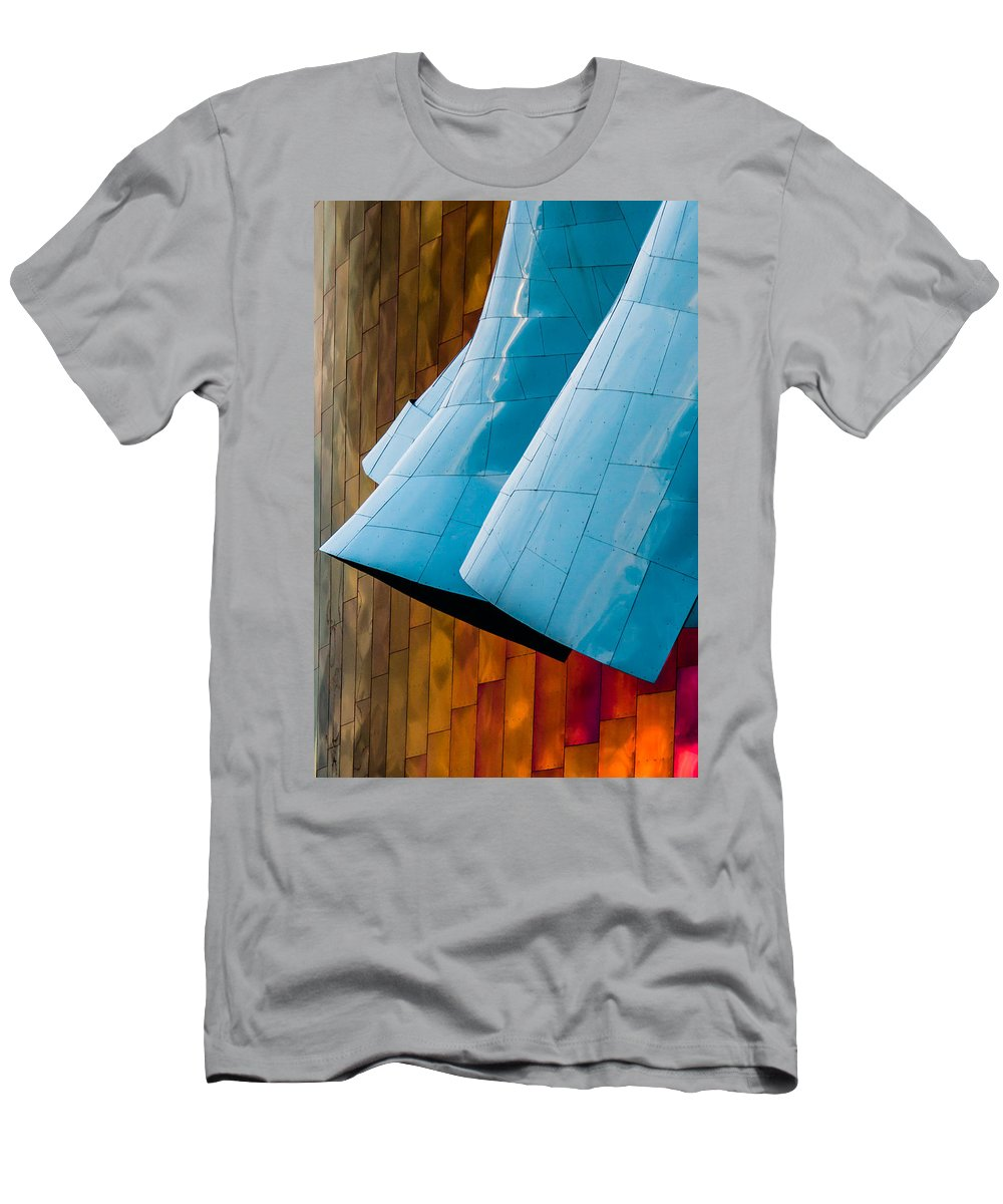 2008 Men's T-Shirt (Athletic Fit) featuring the photograph Waves Of Blue by Melinda Ledsome
