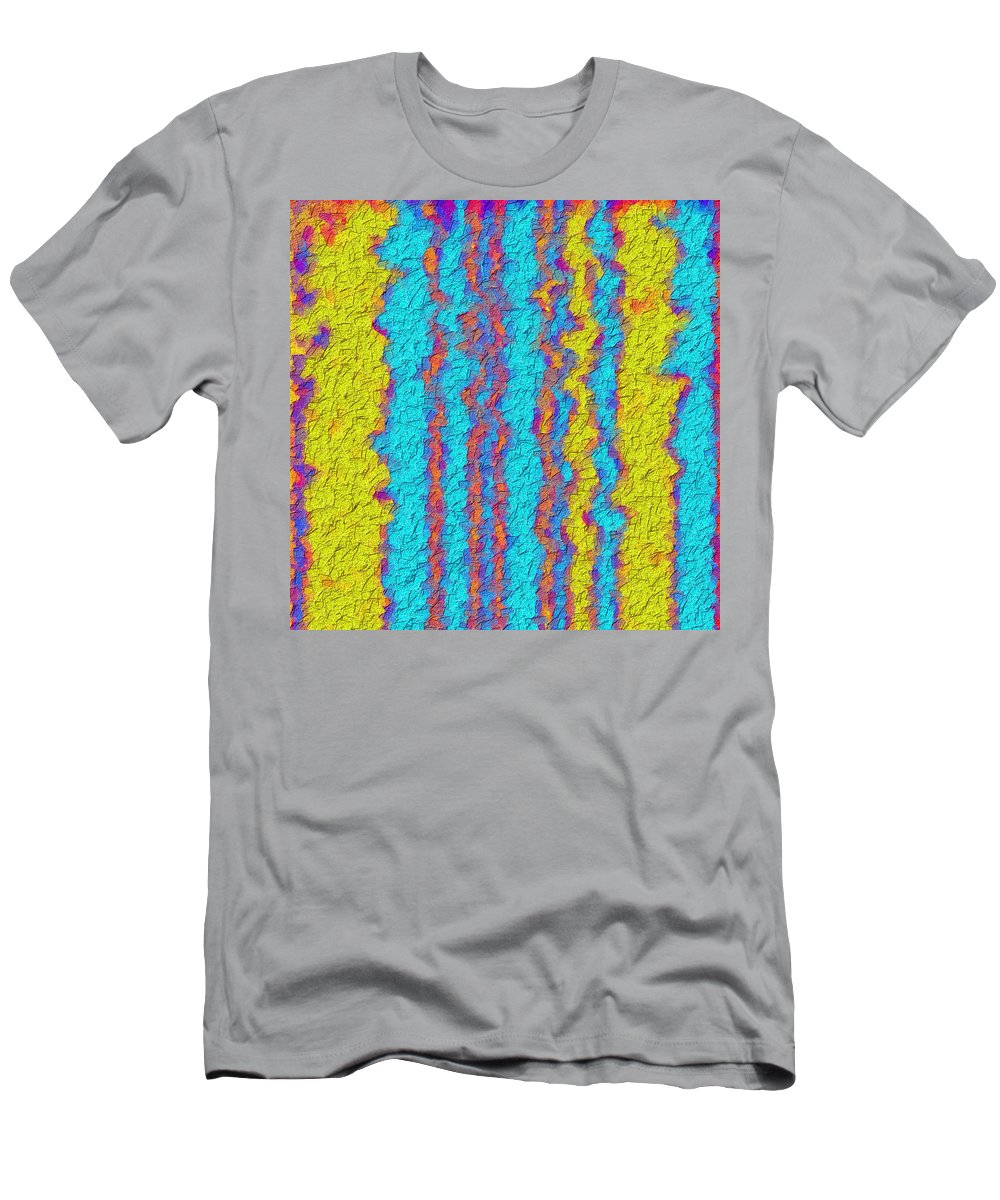 Abstract Men's T-Shirt (Athletic Fit) featuring the digital art Wavy Lines by Cassie Peters