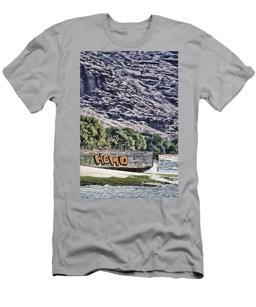 Hawaii Men's T-Shirt (Athletic Fit) featuring the photograph We Don't Need Another Hero by Douglas Barnard