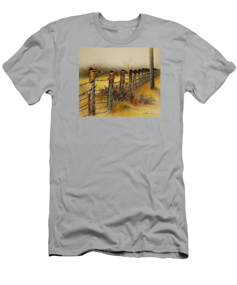 Boots Men's T-Shirt (Athletic Fit) featuring the painting Welcome by Joy Bradley