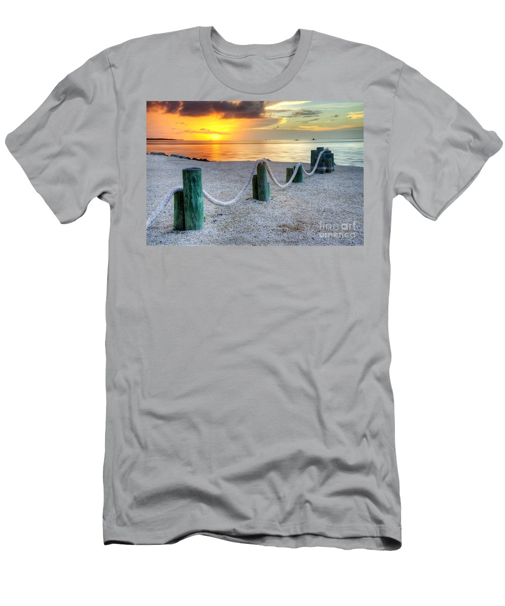 Keys Men's T-Shirt (Athletic Fit) featuring the photograph Whale Harbor II by Bruce Bain