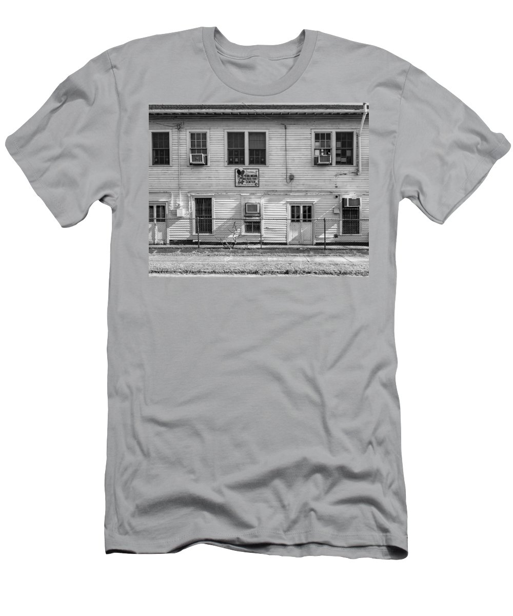 Nola Men's T-Shirt (Athletic Fit) featuring the photograph Where Heroes Begin Bw by Steve Harrington