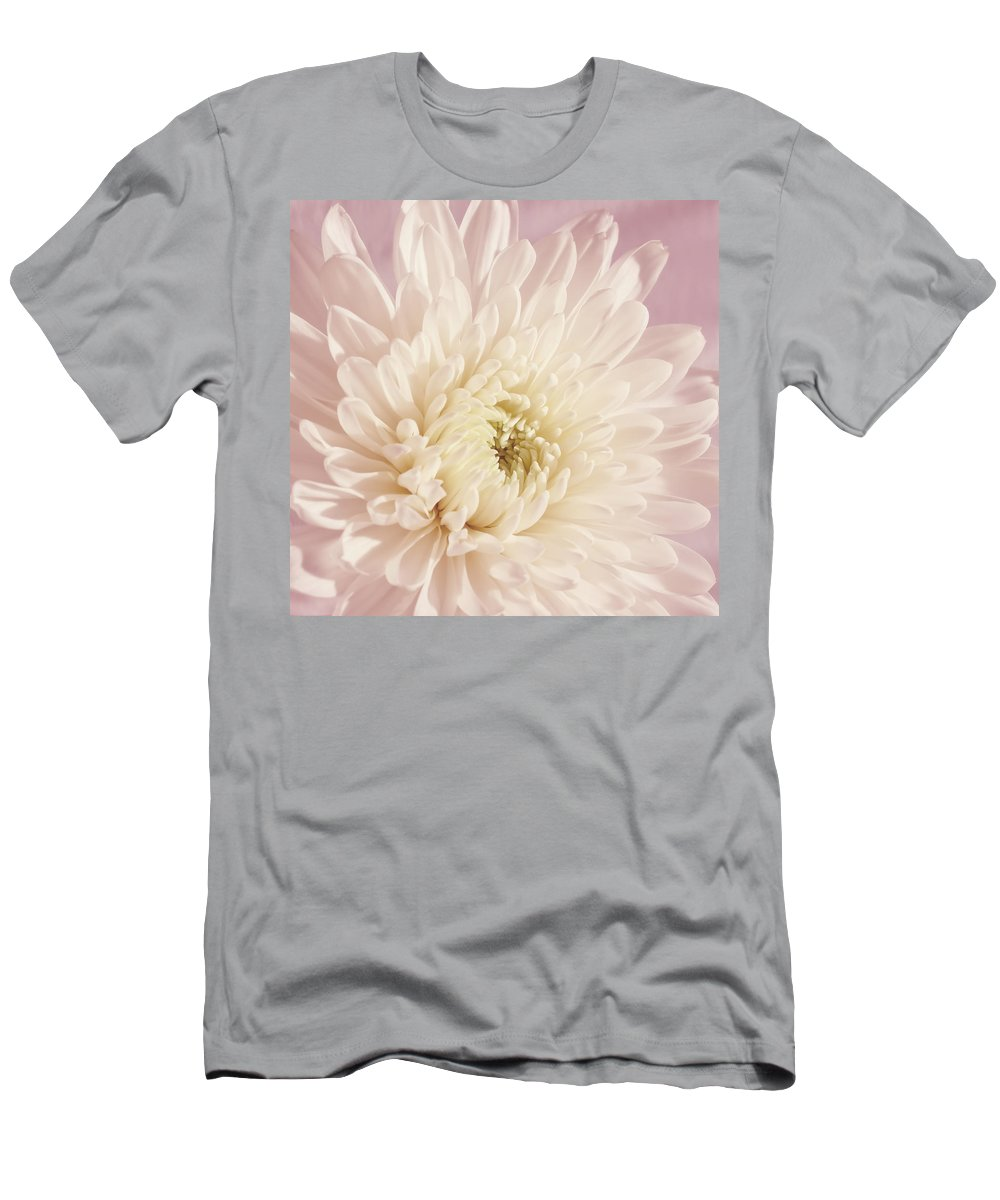 Flower Men's T-Shirt (Athletic Fit) featuring the photograph Whispering White Floral by Kim Hojnacki