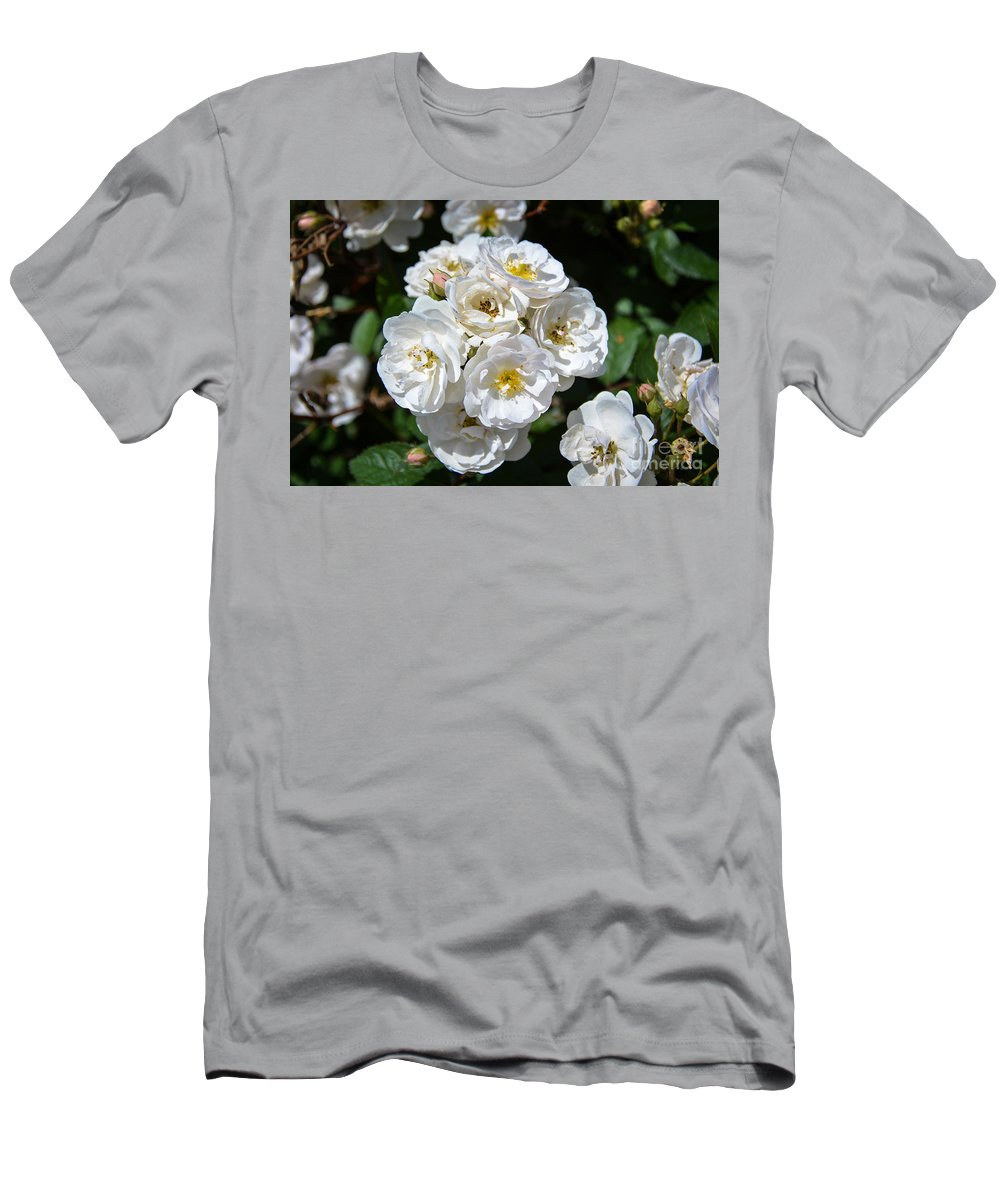 Flowers Men's T-Shirt (Athletic Fit) featuring the photograph White Bouquet by M Dale