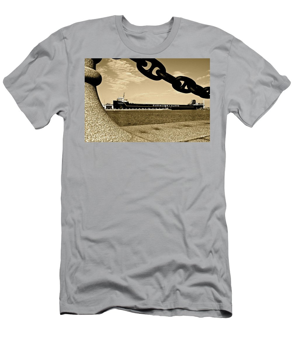William Men's T-Shirt (Athletic Fit) featuring the photograph William G Mather In Sepia by Frozen in Time Fine Art Photography