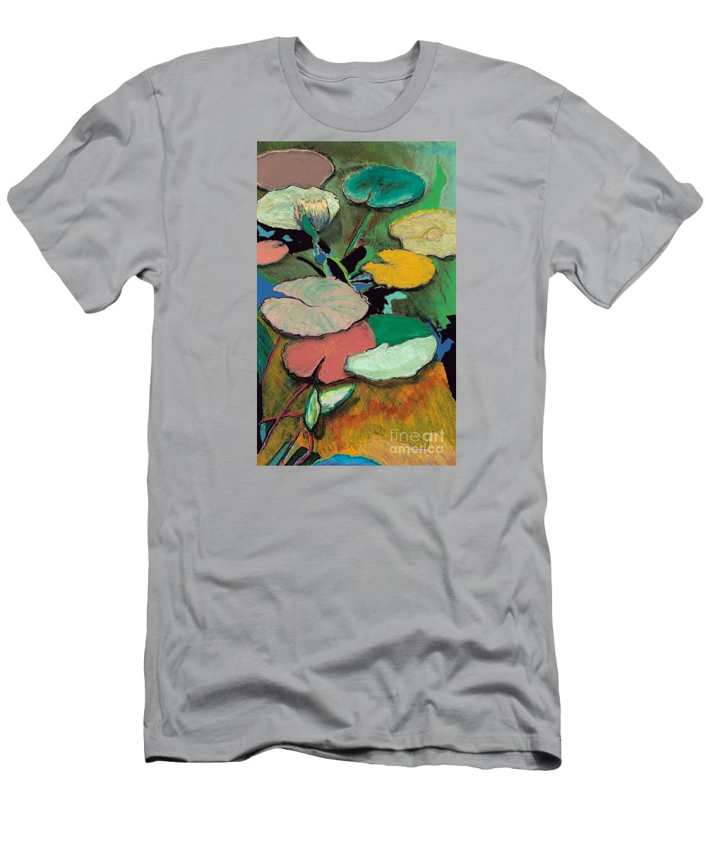 Landscape Men's T-Shirt (Athletic Fit) featuring the painting Windchime Spring by Allan P Friedlander