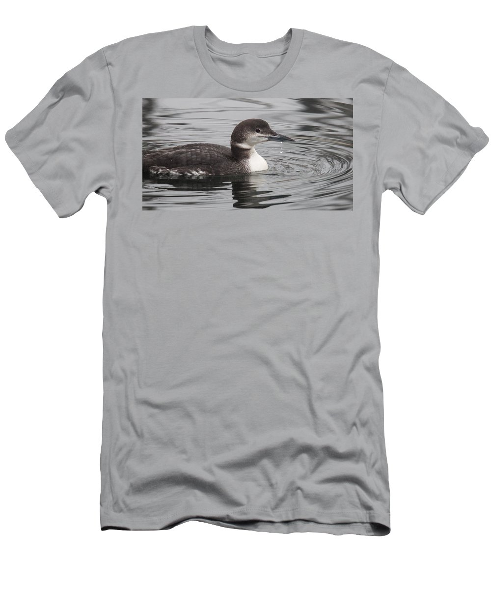 Loon Men's T-Shirt (Athletic Fit) featuring the photograph Winter Loon by Randy Hall