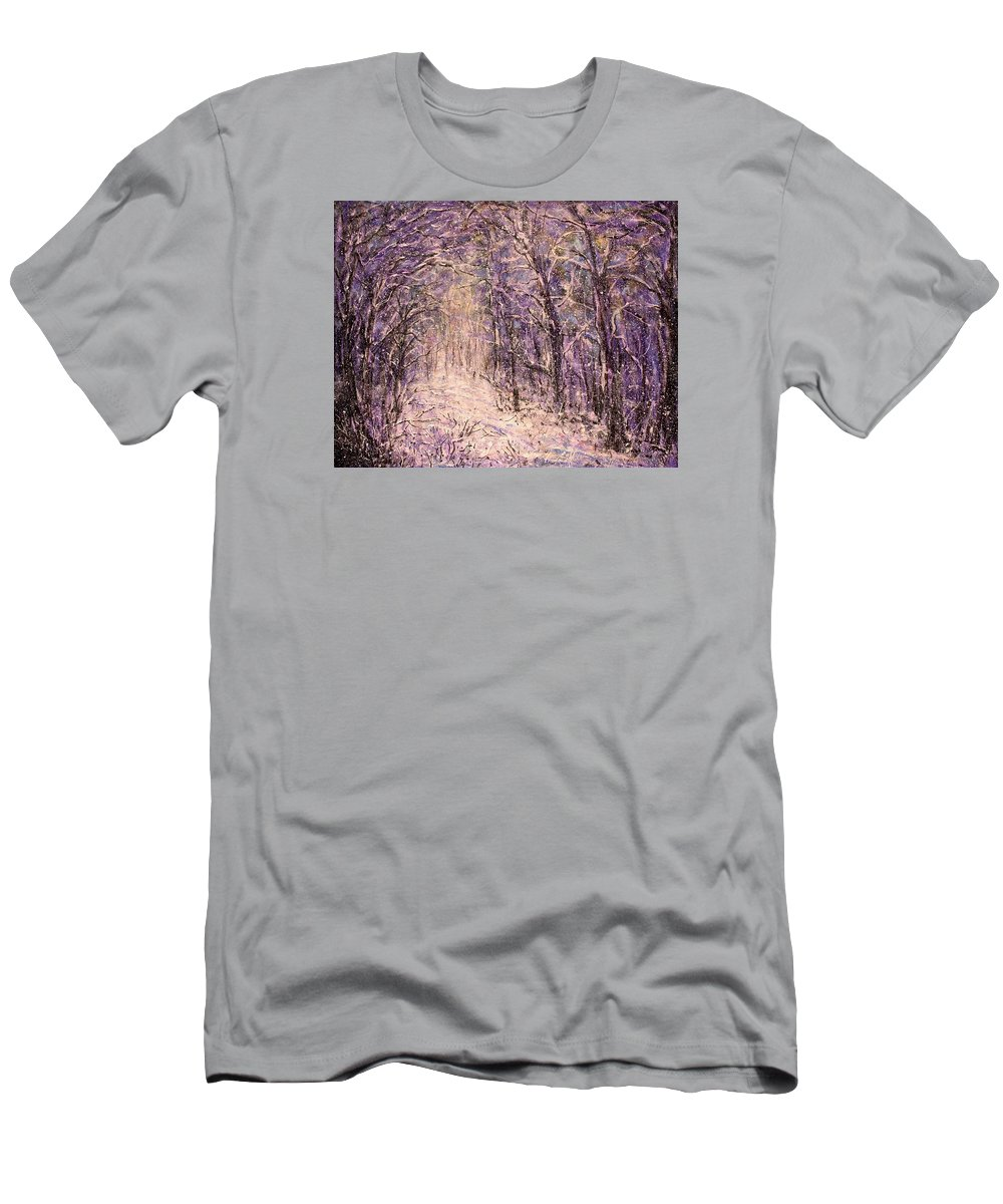 Winter T-Shirt featuring the painting Winter Magic by Natalie Holland