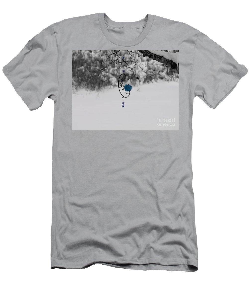 Michigan Men's T-Shirt (Athletic Fit) featuring the photograph Winter Moon by Tara Lynn