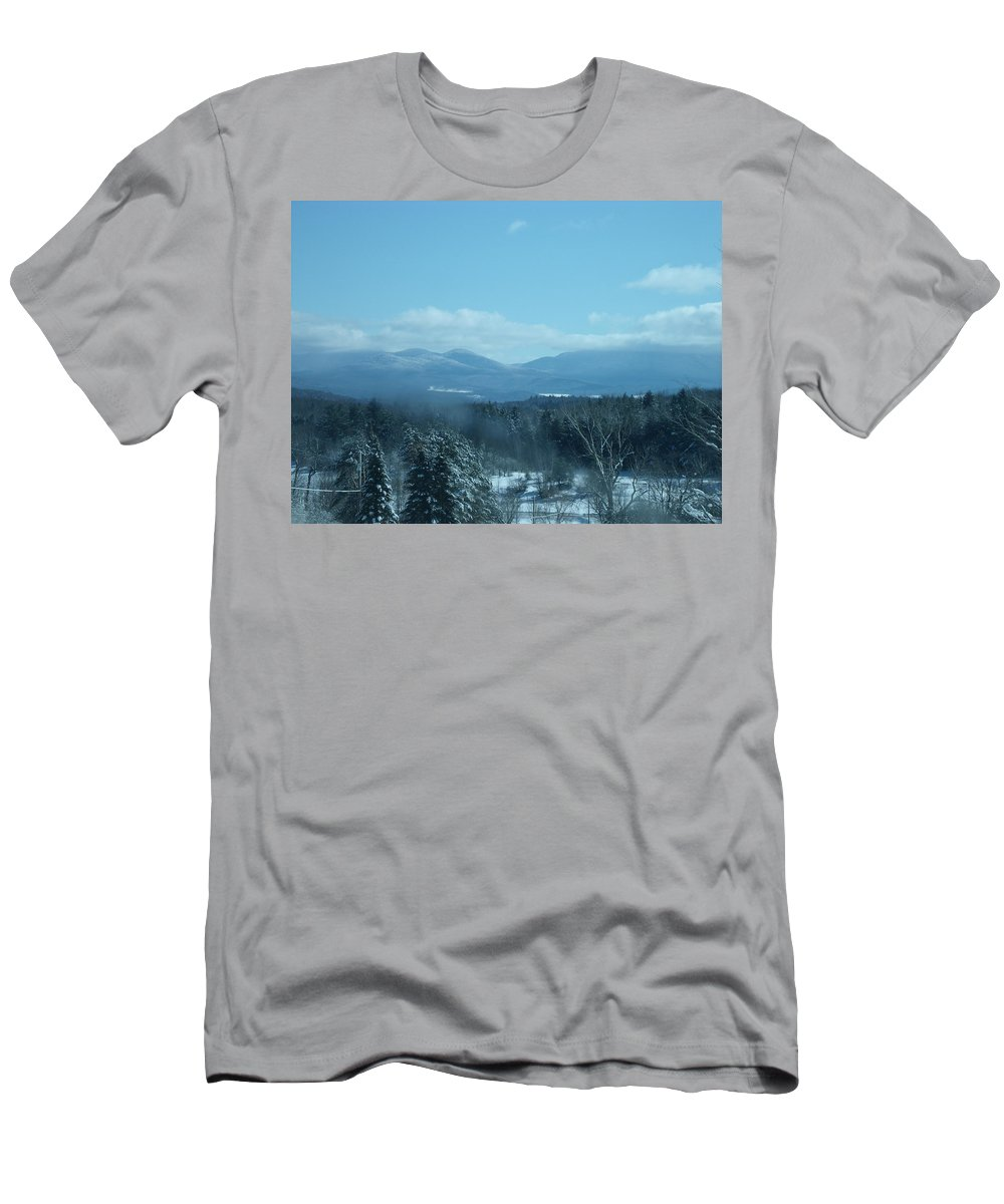 Mountains Men's T-Shirt (Athletic Fit) featuring the photograph Winter Morning by Dennis Comins