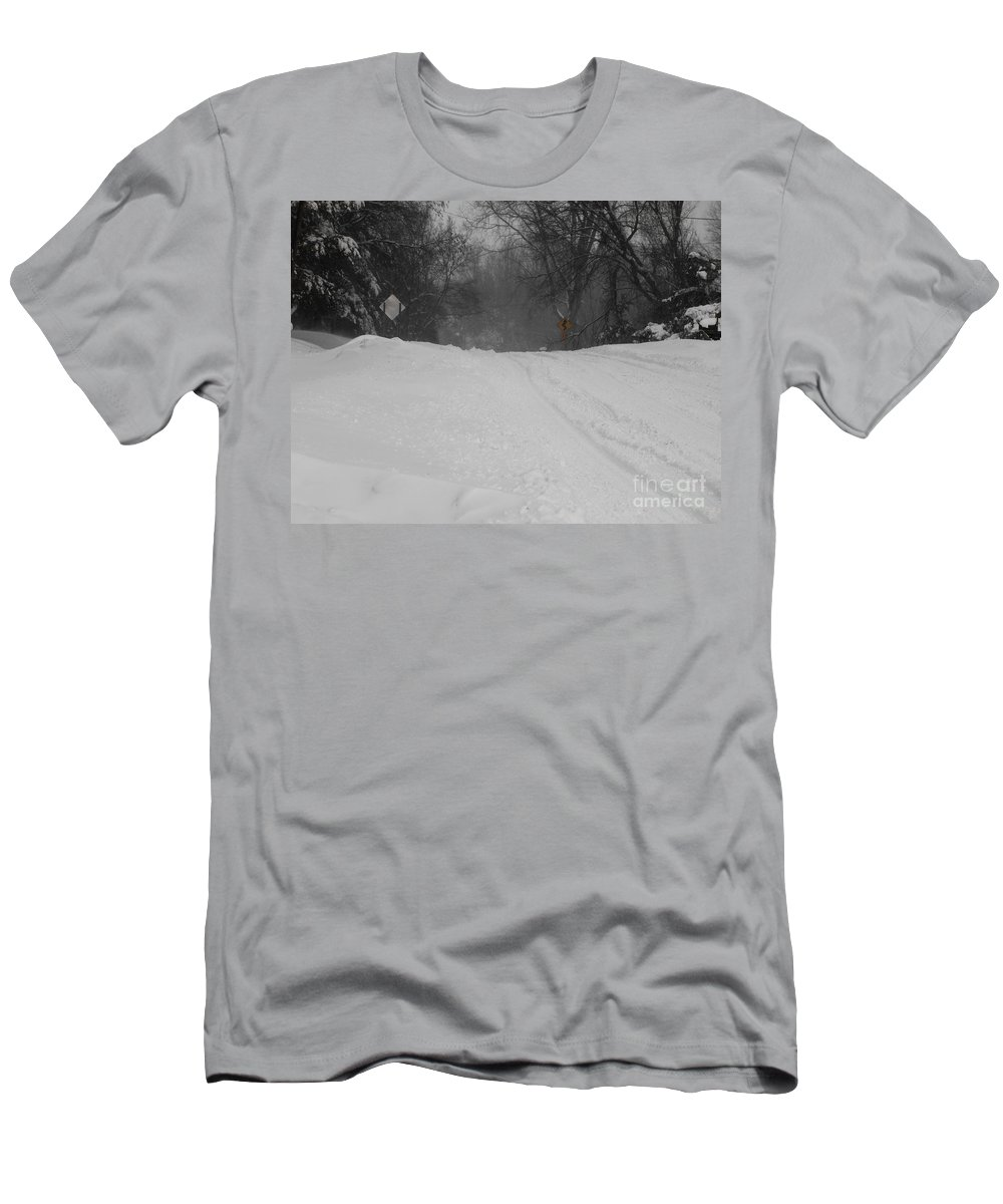 Winter Men's T-Shirt (Athletic Fit) featuring the photograph Winter Road by Tara Lynn