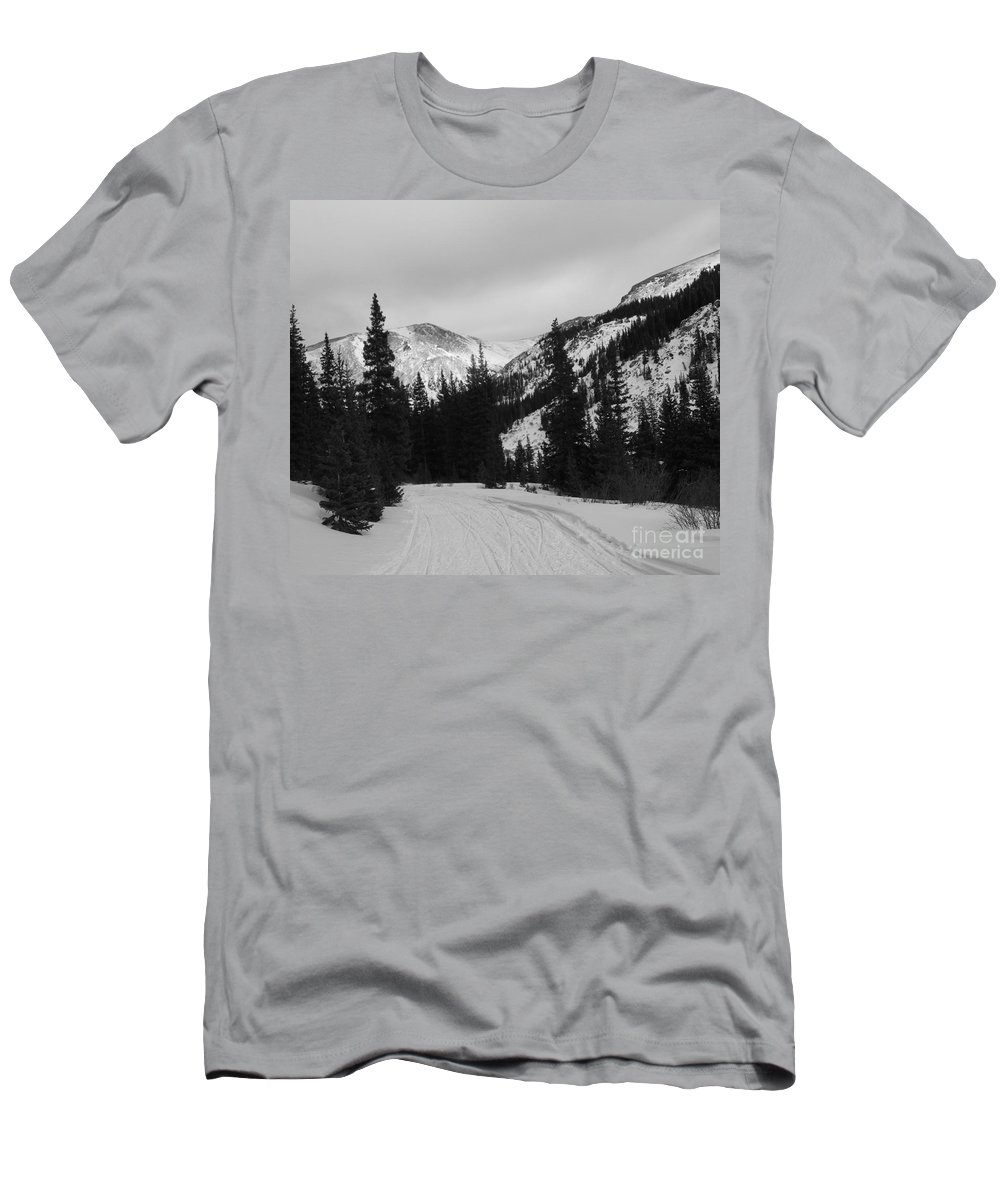 Winter Men's T-Shirt (Athletic Fit) featuring the photograph Winter Road by Tonya Hance