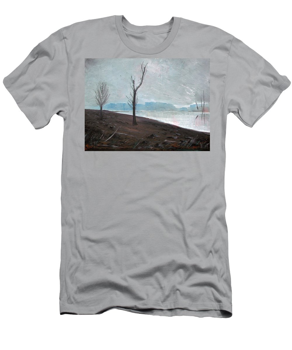 Landscape T-Shirt featuring the painting Winter by Sergey Bezhinets