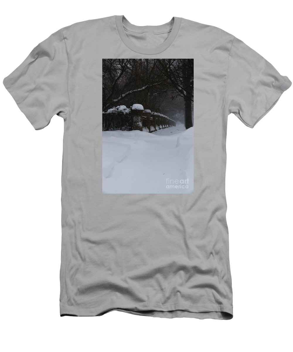 Winter Men's T-Shirt (Athletic Fit) featuring the photograph Winter Walk by Linda Shafer