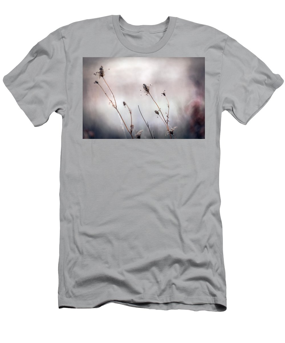 Country Men's T-Shirt (Athletic Fit) featuring the photograph Winter Wild Flowers by Sennie Pierson