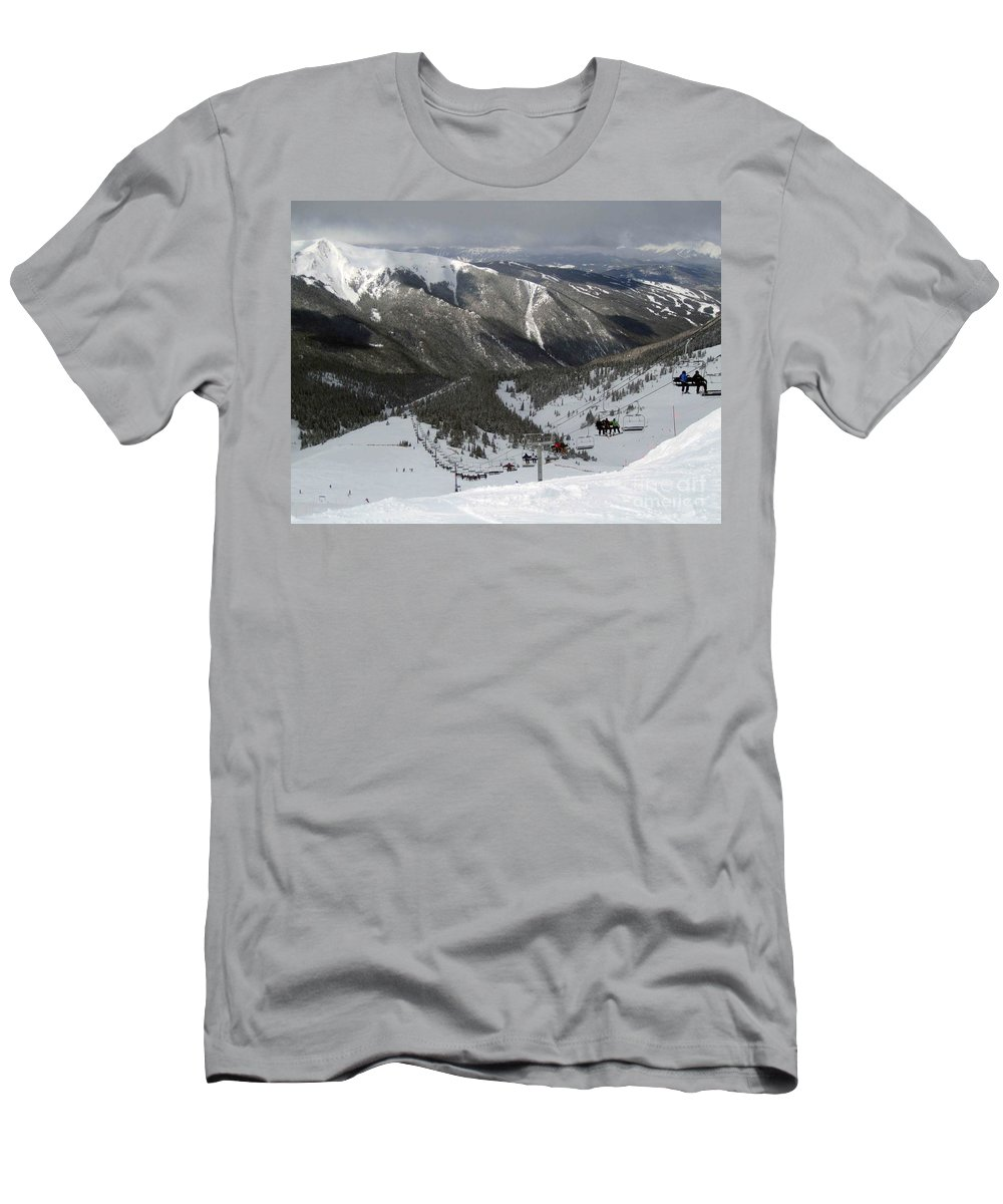 Skiing Men's T-Shirt (Athletic Fit) featuring the photograph Winter Wonderland by Fiona Kennard
