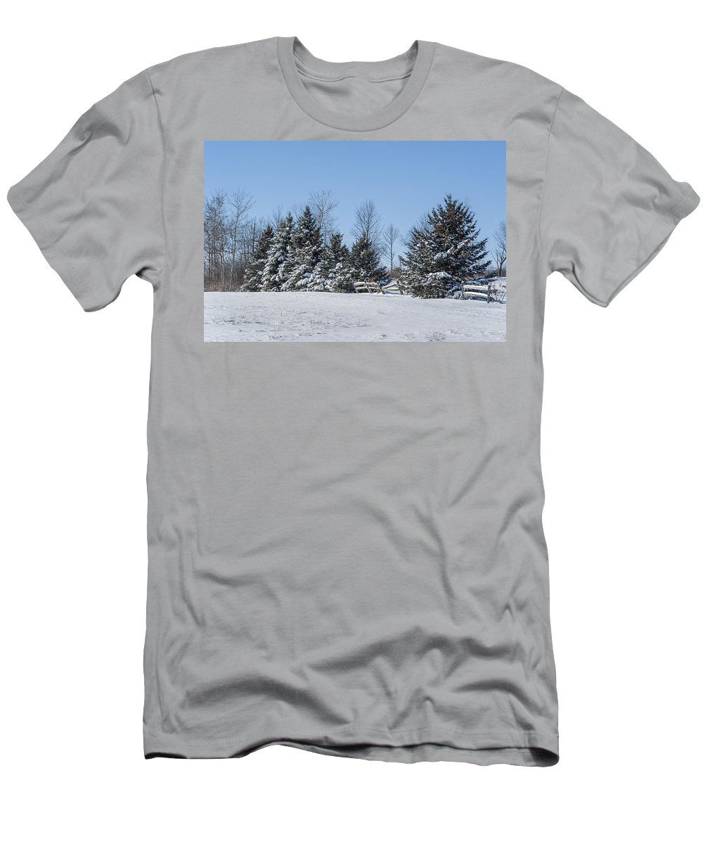 Tree Men's T-Shirt (Athletic Fit) featuring the photograph Winter Wonderland by Ray Summers Photography