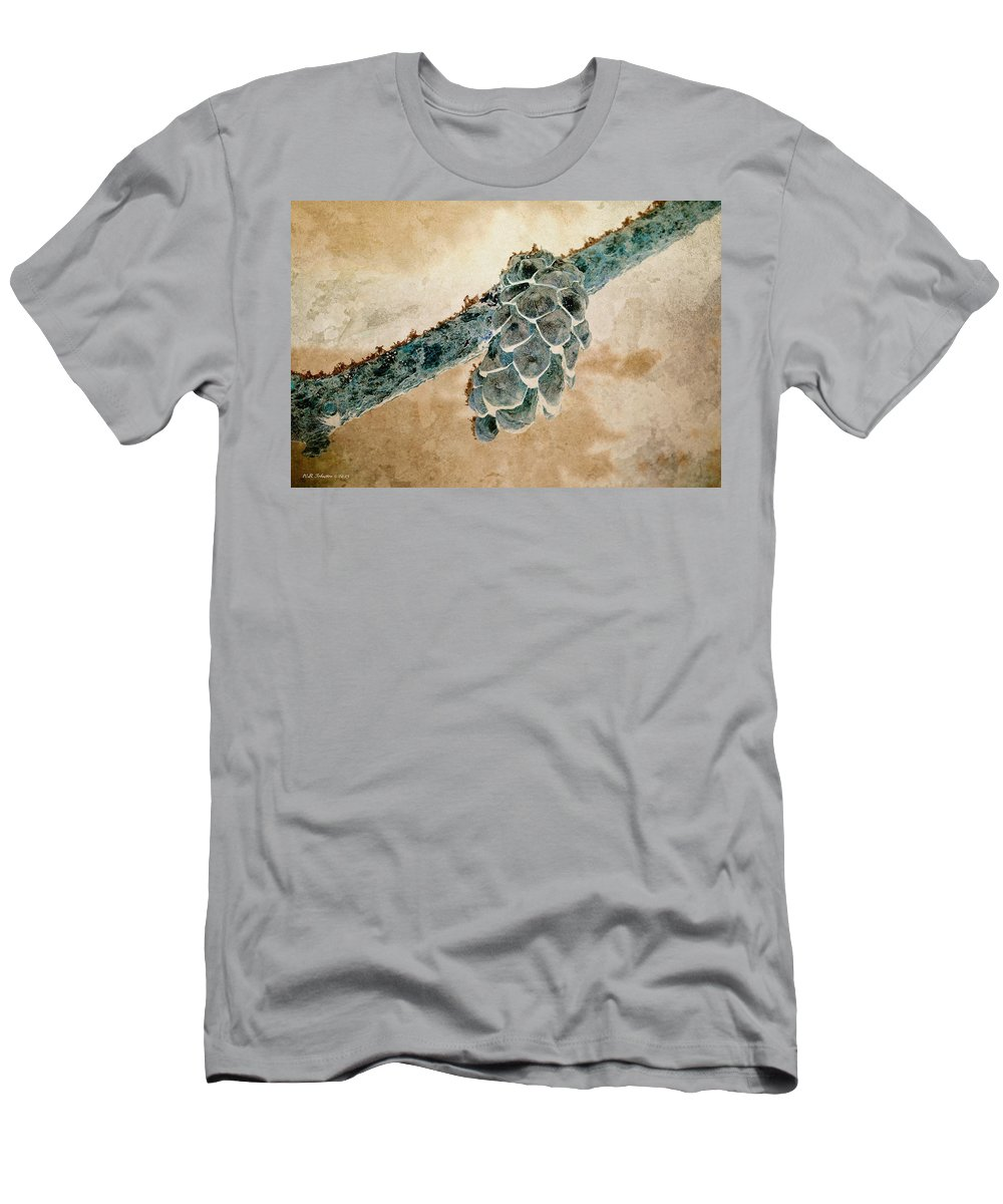 Pine Cone Men's T-Shirt (Athletic Fit) featuring the photograph Wintercone by WB Johnston