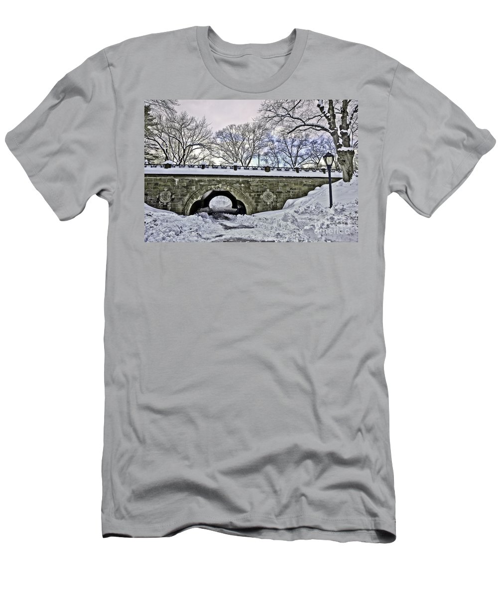 Winter Men's T-Shirt (Athletic Fit) featuring the photograph Winter's Touch by Madeline Ellis